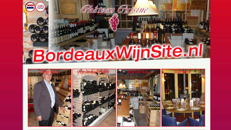 Website - Bordeaux Wijnsite, Benthuize